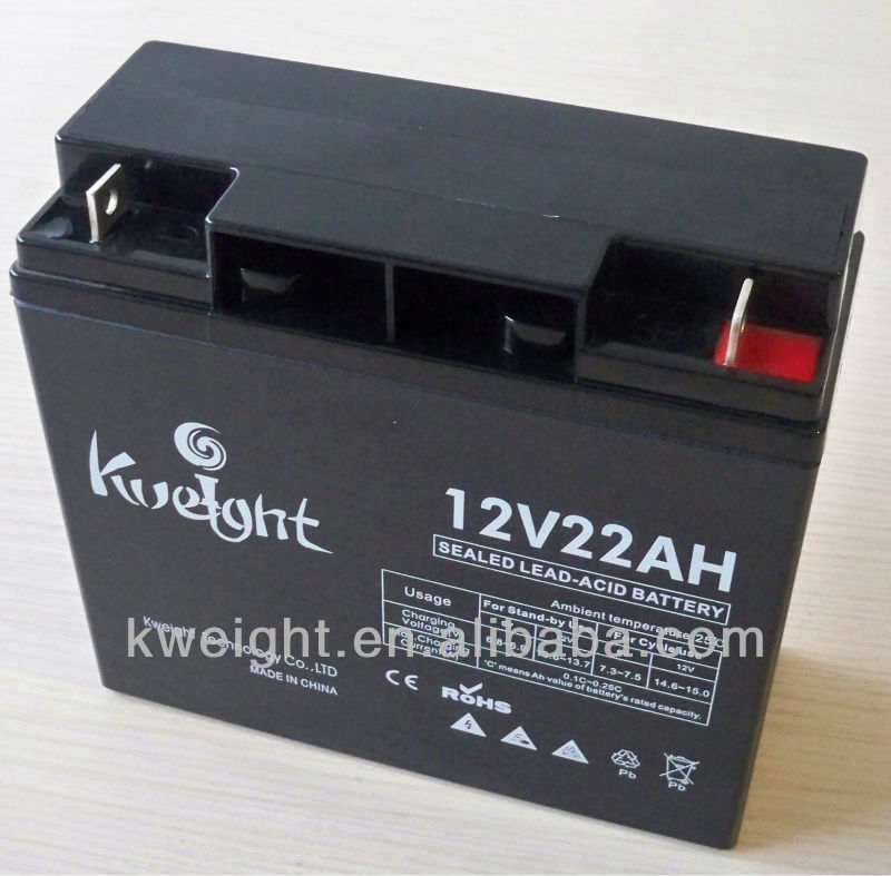 12v 22ah Sealed storage lead acid battery for homage ups
