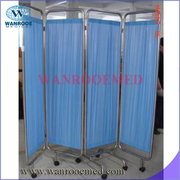 BSS027 Stainless steel hospital bed room divider folding screen