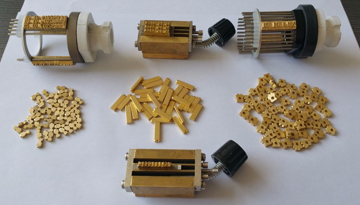 brass characters date printer accessories