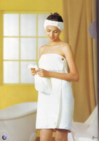 100% cotton terry bath apron spa towel wrap