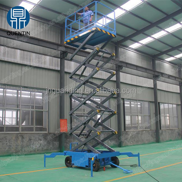 10m heights motorized lifts hyadraulic mobile scissor lift