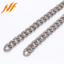 gunmetal aluminum chain bag making accessories metal chain