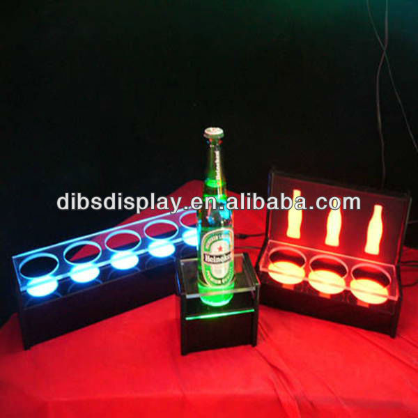 LED Light Acrylic Bottle Display Liquor Shelf