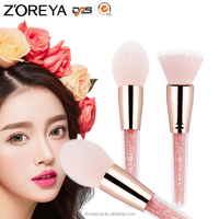 new design rose gold oval zoreya professional makeup brushes