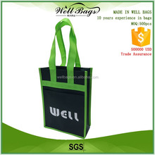 Wholesale carry bag folding non woven wine bag , wine tote bag for 2 bottles