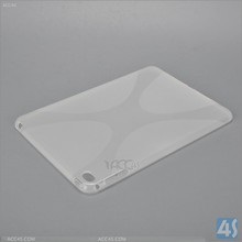 Newest transparent X-shaped tpu back case cover for ipad mini 4