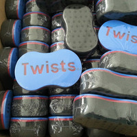 MATIC HAIR TWIST SPONGE Barber Curl Sponge Brush in Stock Free Shipping by EMS to USA 100pcs/lot