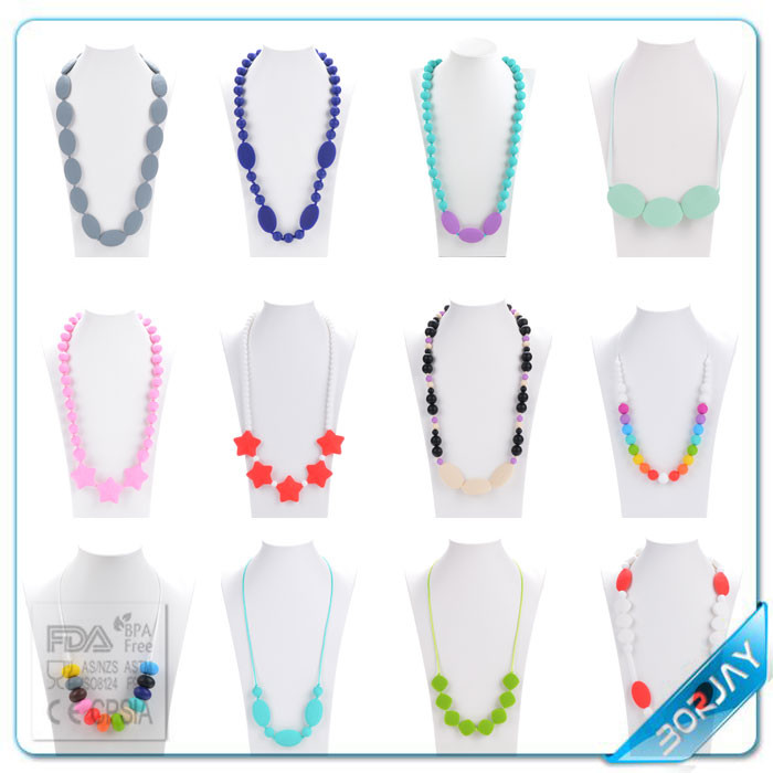 Silicone Jewelry Main Material And Soft Silicone Bead Necklaces Type Silicone Beads