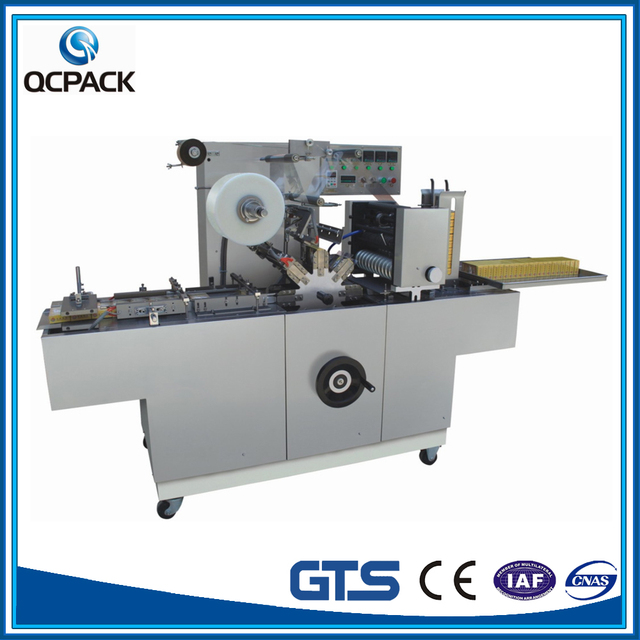 Book Cellophane film wrapping Machine For Double Boxes Side By Side