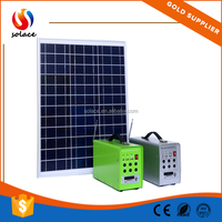 2015 Hot Sale CE&RoHS for Home Use with LED light 18ah 40W portable solar power system