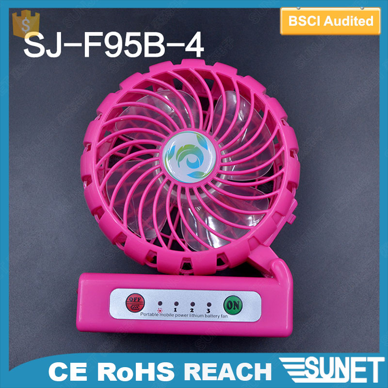 customized LOGO printing portable rechargeable mini fan with usb