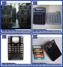 OEM injection mould plastic calculator shell and button making