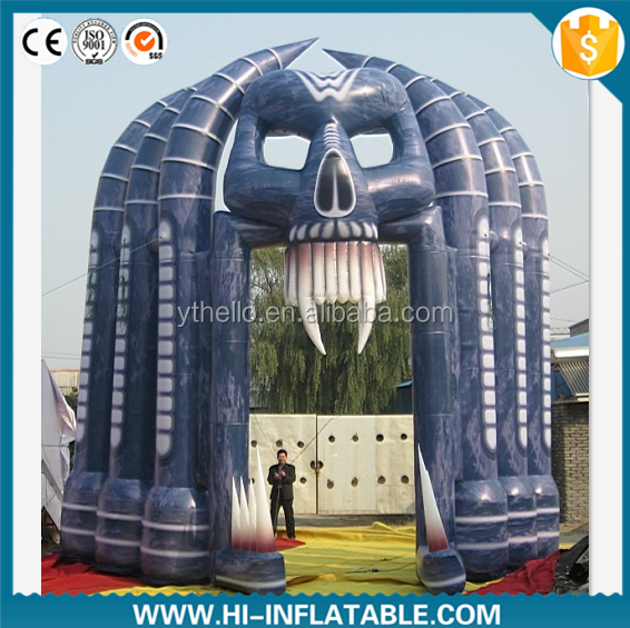 Hot sale decoration inflatable halloween arch, giant halloween inflatables with special shape