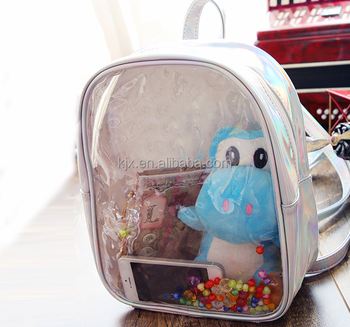 2017 New College PVC Transparent School Backpack Factory
