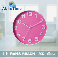 beautiful pop-up digital crystal canvas picture wall clock