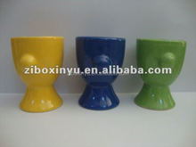 ZIBO XINYU XY-0817 Special Shaped Solid Color Glazed Embossed Cup , Ceramic Wine Cup