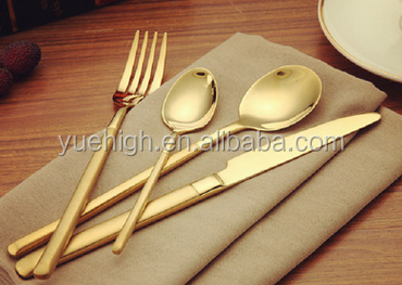 Stainless Steel Rainbow Rose Gold Cutlery Set