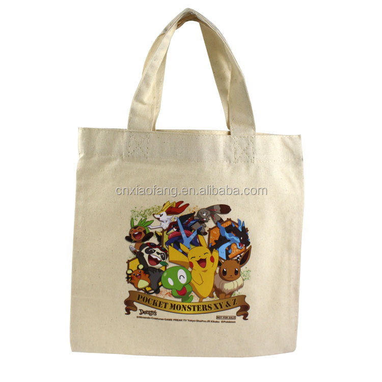 School kids useful washed cotton tote shopping bag/cotton canvas bag
