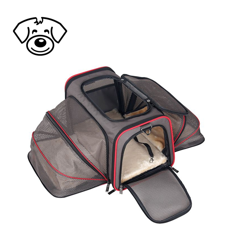 Luxury pet sling carrier dog transport bag