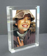 Square acrylic photo frame/Acrylic vase with photo frame/Acrylic magnetic photo frame