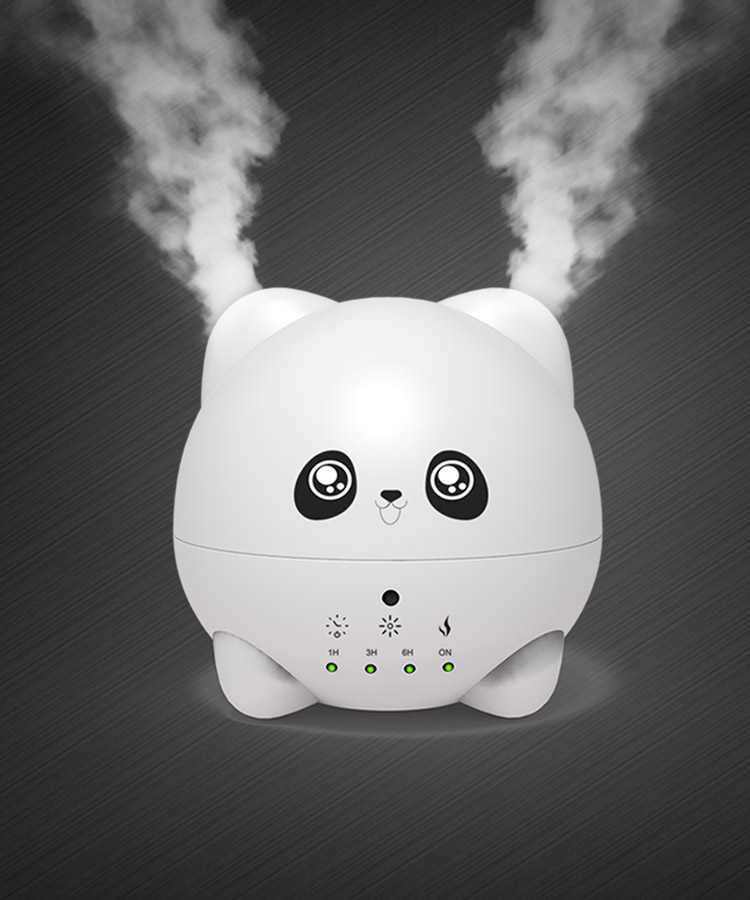 Customized Cartoon Expression Pure Ultrasonic Small Humidifier Cold Air Diffuser