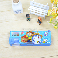 Single Button Doraemon Pencil Case Double Layers