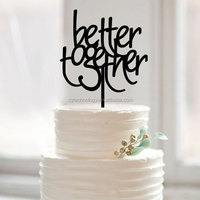 "custom letters ""Better Together"" wedding cake toppers for bride and groom"