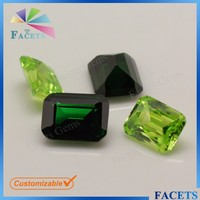 Lab Created Gemstones Emerald Cut CZ Gemstone Batu Zamrud Emerald Gems Wholesale