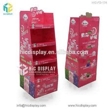 Cardboard retail cosmetic display stand