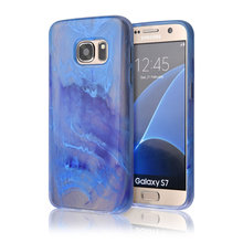 C&T Slim Soft TPU Water Color Brush Image Design Translucent Cell Phone Case for Samsung Galaxy S7 G930