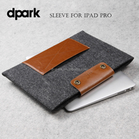 Wholesale Leather Wool Felt Tablet Protective Case Sleeve for iPad Pro Tablet Cases Sleeves Manufacturer in China