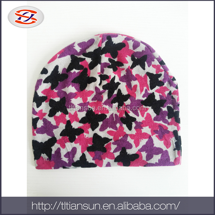 colorful hand knitted softextile cap and hat