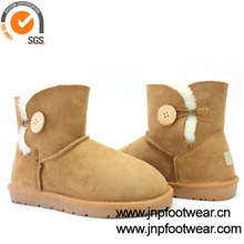 Ankle style double face sheepskin boots wholesale