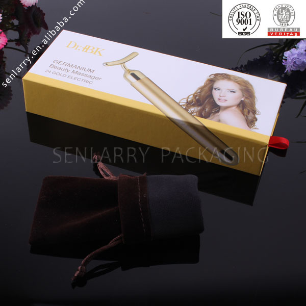 High-end paper packaging box for hair curling iron