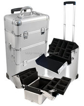 Alibaba Professional Customized Aluminum Trolley Makeup Case