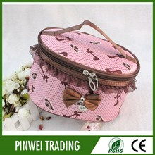 wholesale promotional hand fashion vanity satin travel cosmetic bag, professional cosmetic bag