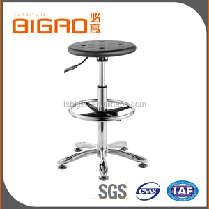 School Furniture Lab Equipment Durable Pu Injection Foam School Lab Stool With Stainless Steel Footring