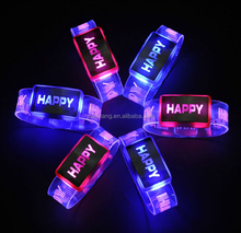LED flash bracelet glowing bracelet glowing wrist strap plastic Luminous bracelet