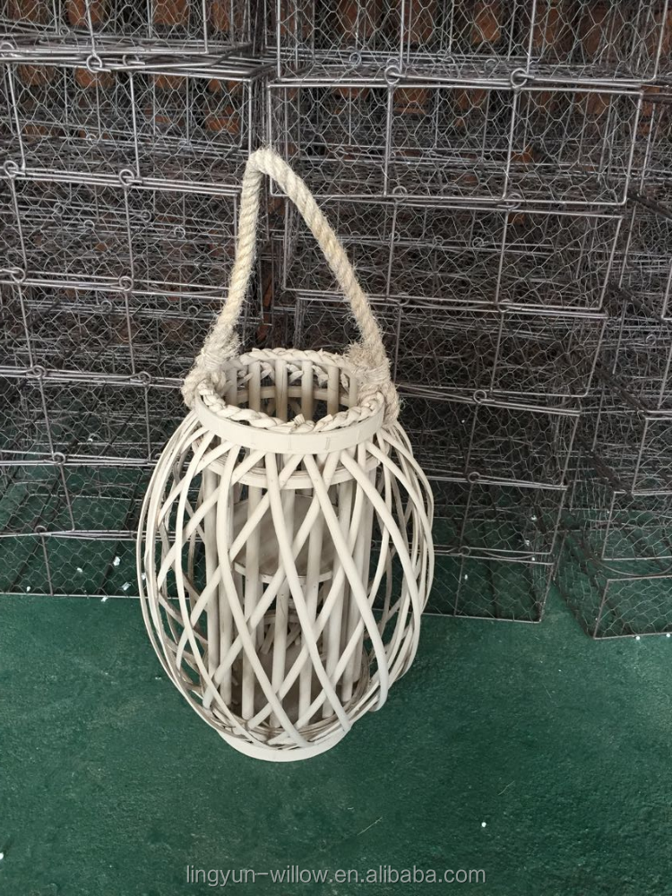 Antique home decorative wooden and glass lantern with handle