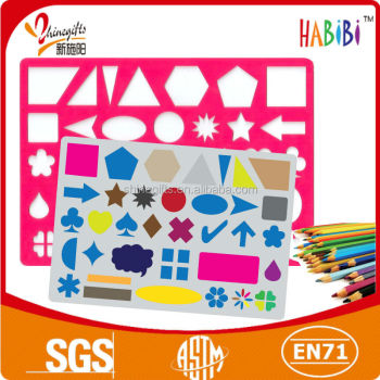 colorful square number stencils for kids