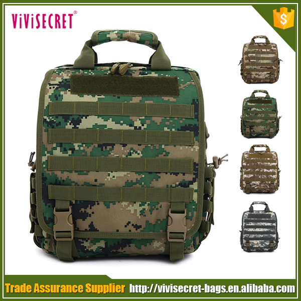 Men's outdoor used camouflage laptop bags solar powered backpack for army