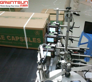 High resolution inkjet batch printing machine on packages