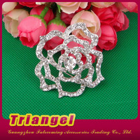 Top Quality Rose Shaped New Brooch Design For Wedding Dress