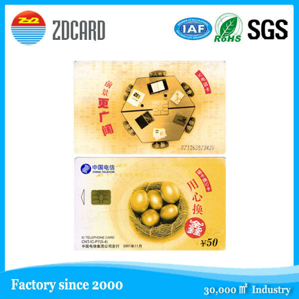 excellent quality contact ic medicare smart card