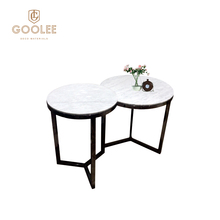 Latest Home Hotel Decor Stainless Steel Modern Marble Coffee Side Table