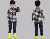 Wholesale men's shirts OEM large plaid shirts for men high quality