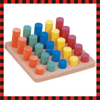 Cylinder sorting children for kid toy educational nano building block