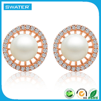 Most Popular Products South Sea Pearl Crystal Earrings For Women