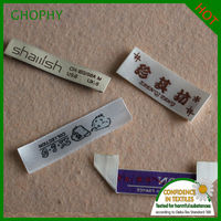 Customized Garment Woven labels satin size labels brand labels for clothing