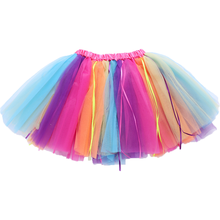 Cheap Tulle Fluffy Skirt Colorful Rainbow Tutus Girl Skirts for Kids